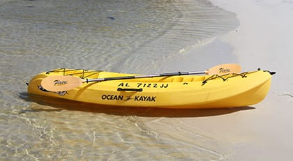 Explore the islands with a Kayak Rental from Happy Harbor Marina.