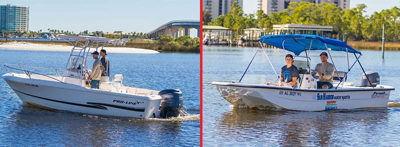 A Runabout Boat Rental is perfect for small groups looking to spend time on the water.